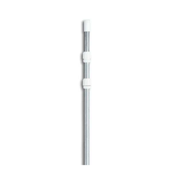 5-15' Adjustable Silver Aluminum Swimming Pool Telescopic Pole for Vacuums & Skimmers