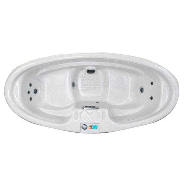 QCA Spas - Aspen 2-Person Plug and Play 8-Jet Spa with Hard Cover