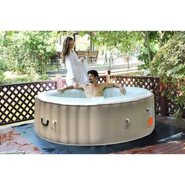 Portable Inflatable Bubble Massage Spa Hot Tub 6 Person - White