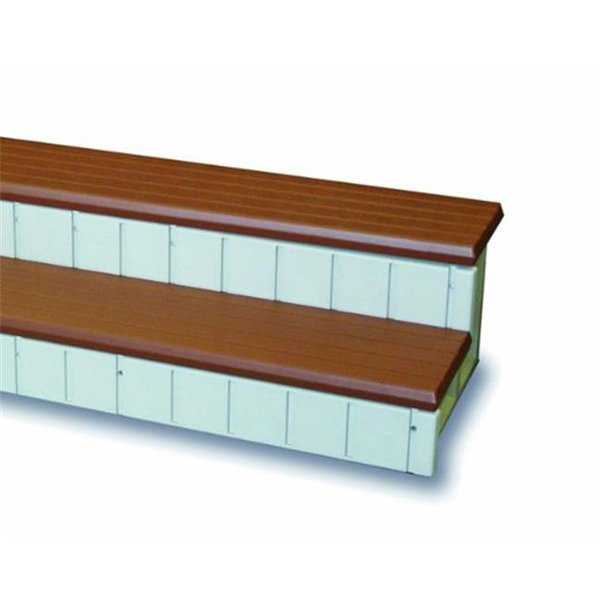 Confer Plastics LASS36-R Two Toned Spa Step, 36 in. - Redwood